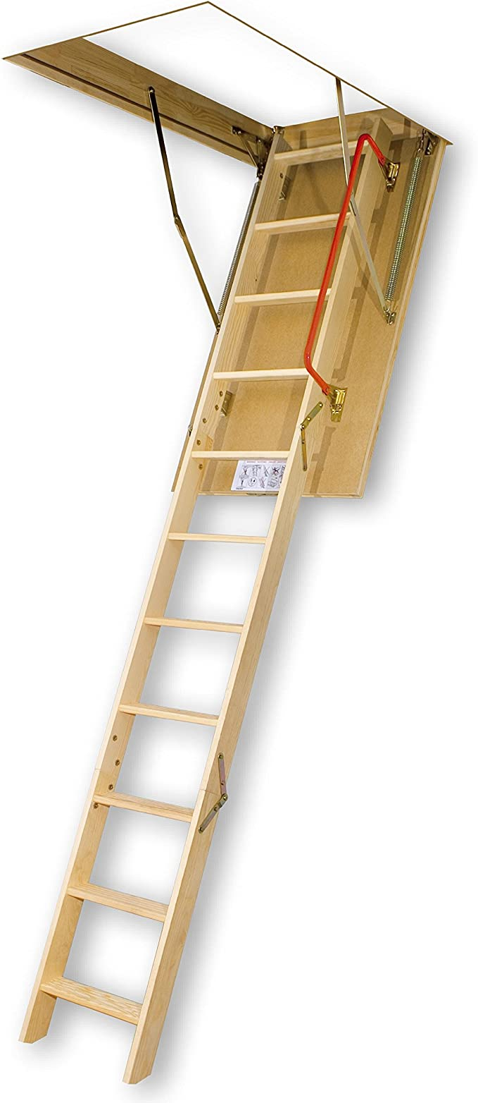 Amazon Com Fakro Lws Pl 66853 Insulated Attic Ladder For 22 Inch X 54 Inch Rough Openings Home Improvement