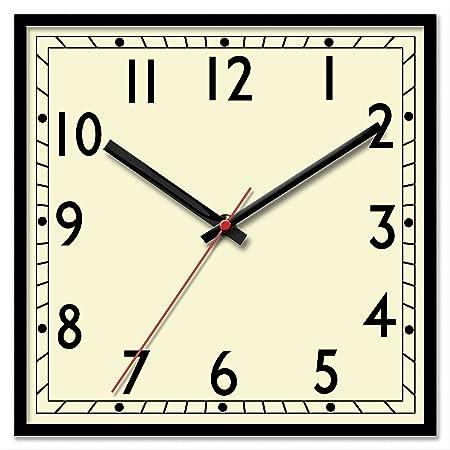 Classic Retro Large Square Bold Quartz Wall Clock Amazoncouk