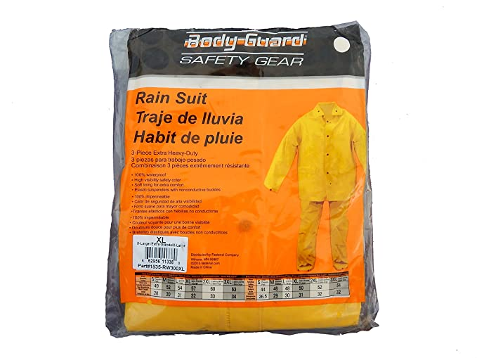 Amazon.com: Cuerpo Guardia 3pc Seguridad Amarillo Heavy Duty ...