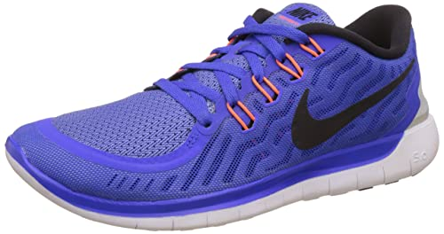 51a460f29e76 Image Unavailable. Image not available for. Colour  Nike Women s Free 5. 0 Racer  Blue Black Chalk Blue White ...