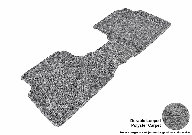 Classic Carpet 3D MAXpider Second Row Custom Fit Floor Mat for Select Volkswagen Tiguan Models Gray