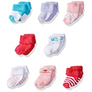 Luvable Friends Newborn I Love  8-Pack Socks, Pink Daddy