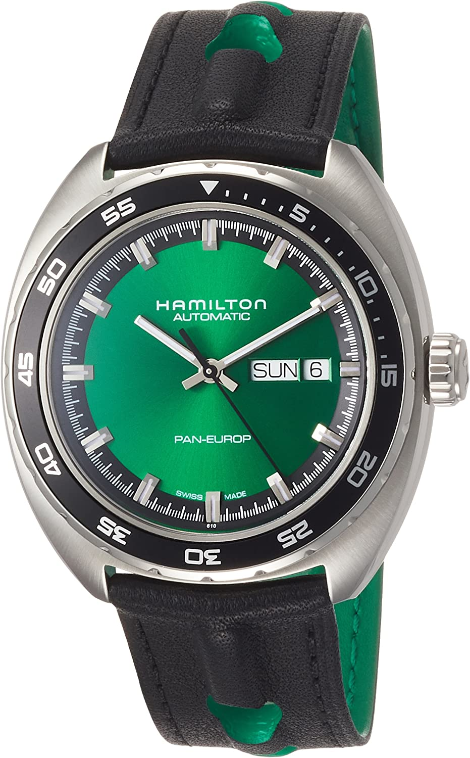 Hamilton American Classic Pan Europ Green Dial Automatic Mens Watch H35415761