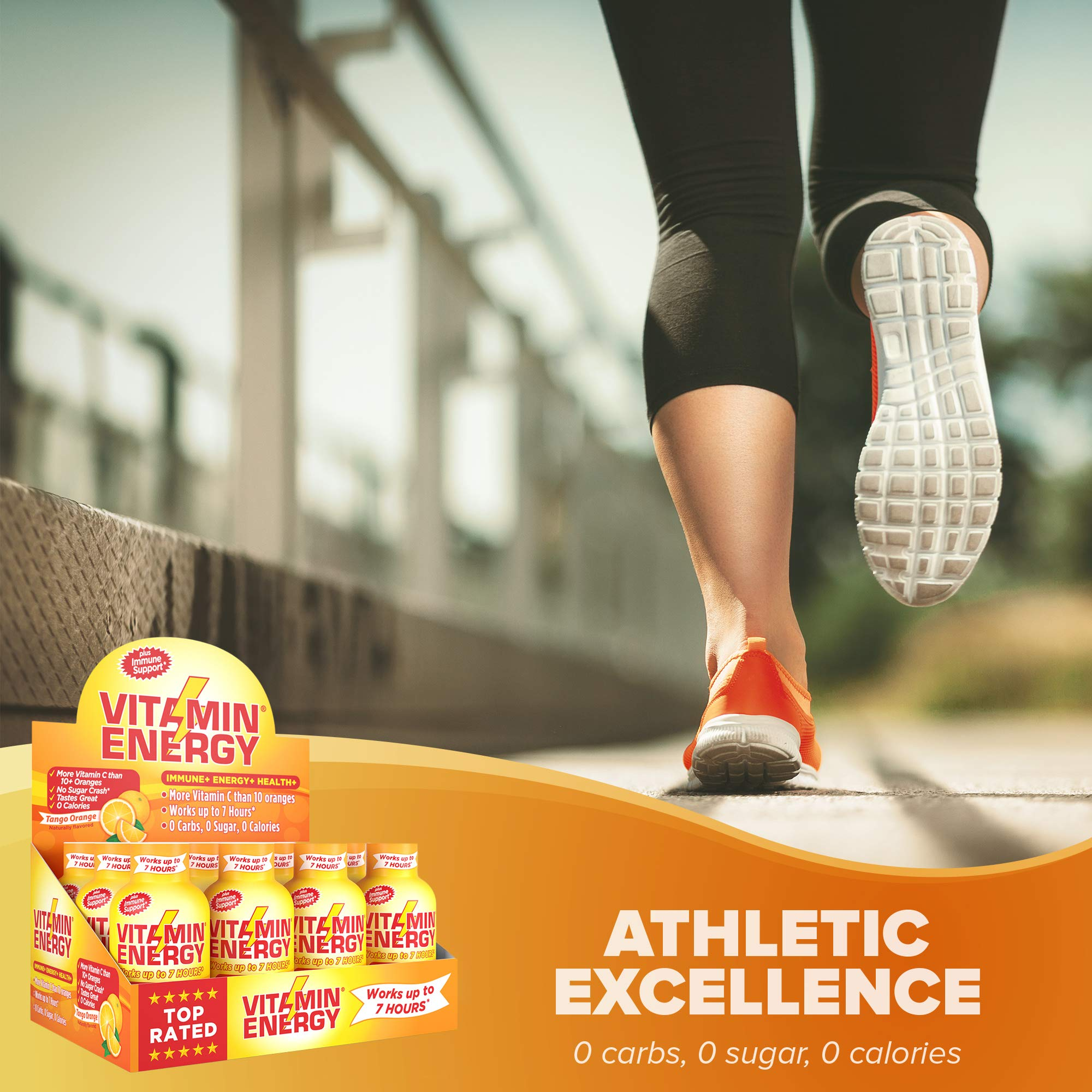 Vitamin Energy Shots – up to 7 Hours of Energy, More Vitamin C Than 10 Oranges, 0 Calories (48 Count) by Vitamin Energy (Image #4)