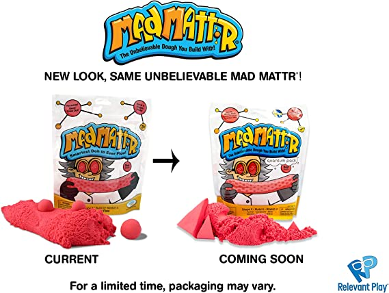 MAD MATTR Super-Soft Modelling Dough Compound That Never Dries out by Relevant Play (Red, 10oz): Amazon.es: Juguetes y juegos