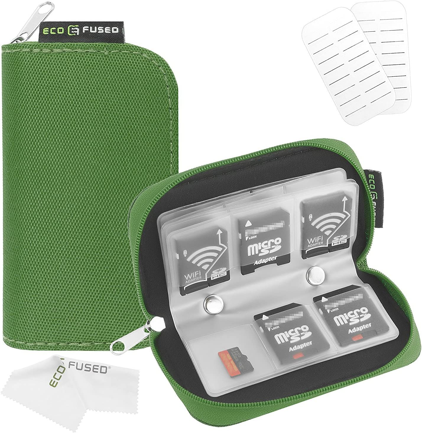 Estuche de Tarjeta de Memoria – Sirve para 22x Tarjetas SD, SDHC, Micro SD, Mini SD y 4X CF – Estuche con 22 Ranuras (8 Páginas): Amazon.es: Electrónica