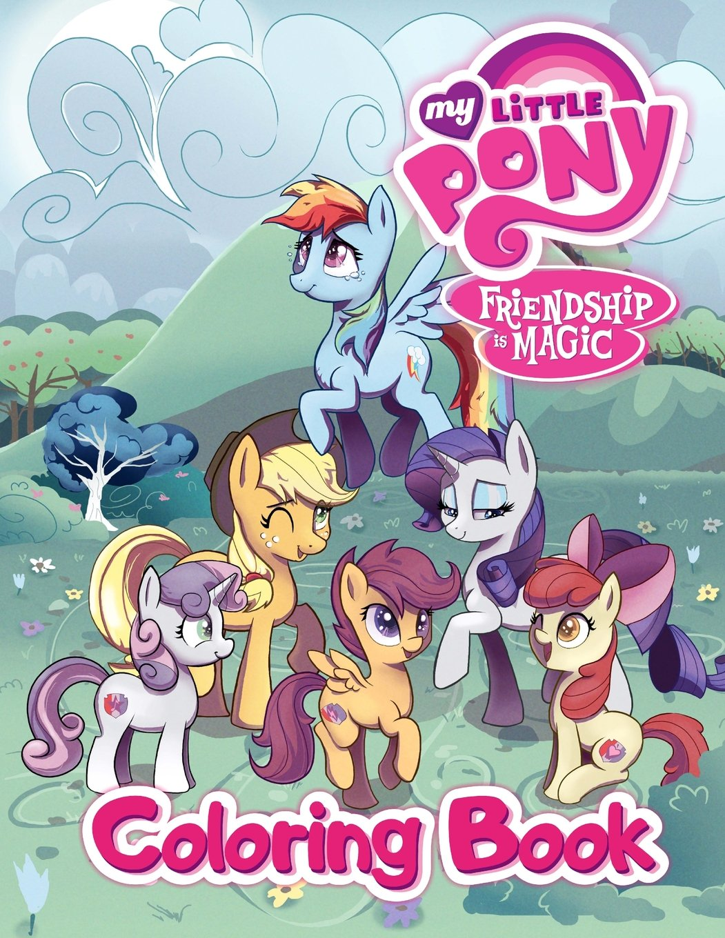 Read Online My Little Pony Friendship is Magic Coloring Book: Great Activity Book for Kids and Toddlers ebook