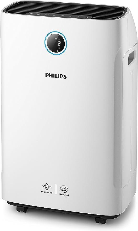 Philips Humidificador y - Purificador de aire (80 m², 9 h, 600 ml/h, CC, 310 m³/h, China): Amazon.es: Hogar
