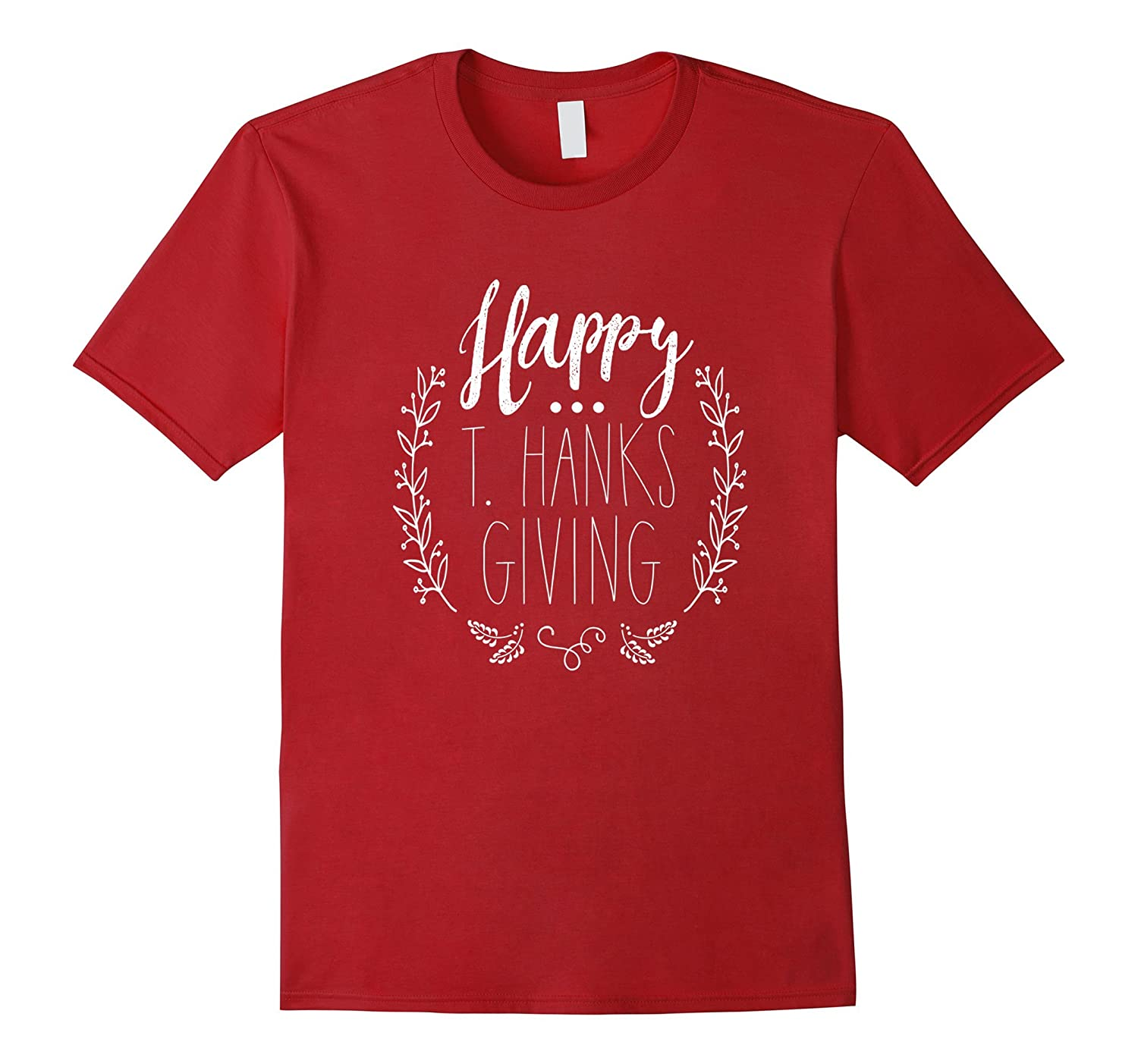 Happy T. Hanks Giving Shirt with wreath-ANZ
