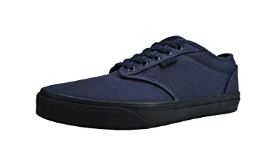af77d5f53fa Vans Men s Atwood Shoes Navy Blue Black Check Liner Fashion Skate Sneakers  ...