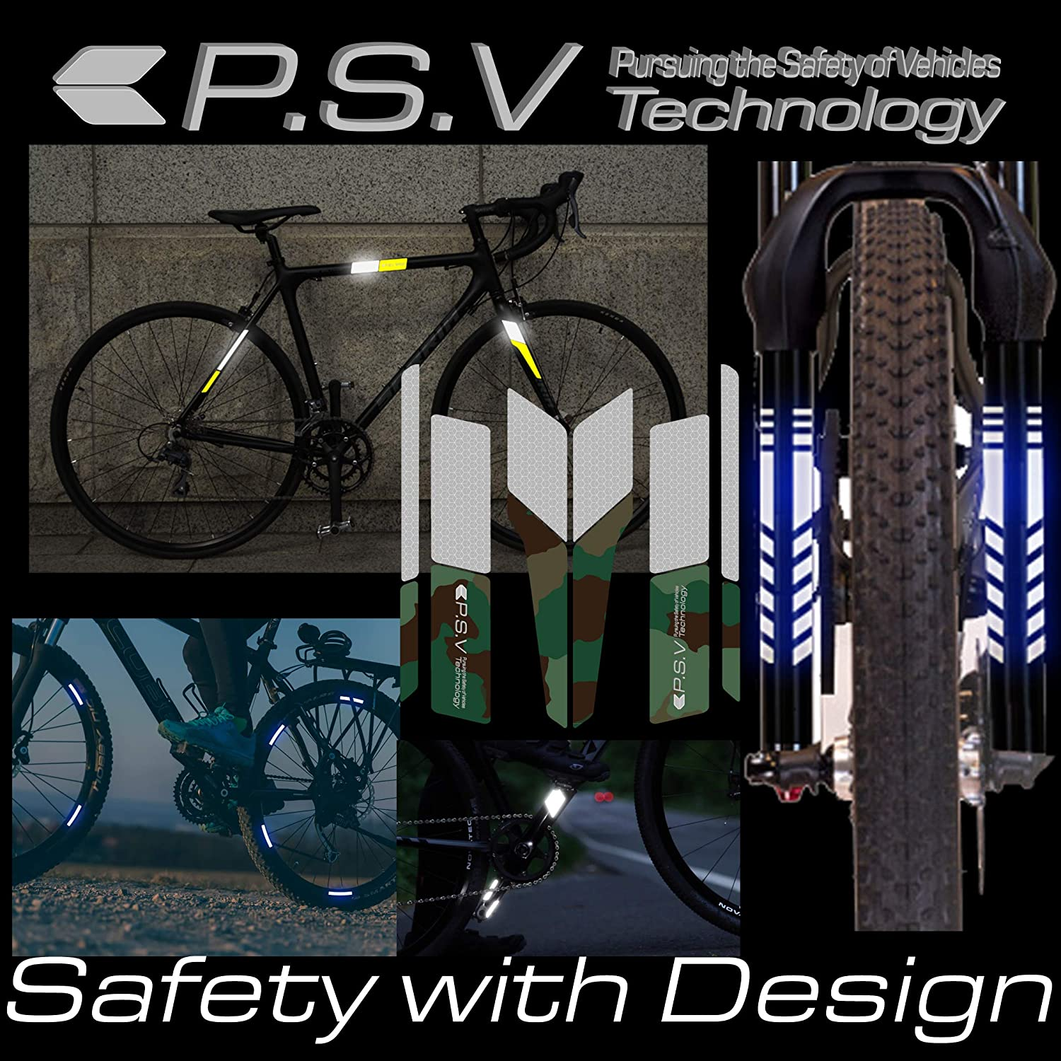 MTB P.S.V Technology ATPC Japan Pedal Arm Reflector Reflector to Paste on Bicycle Crank Strong Reflection of Light Nightly Safety is Improved by 360 Degree Visibility Road Bike