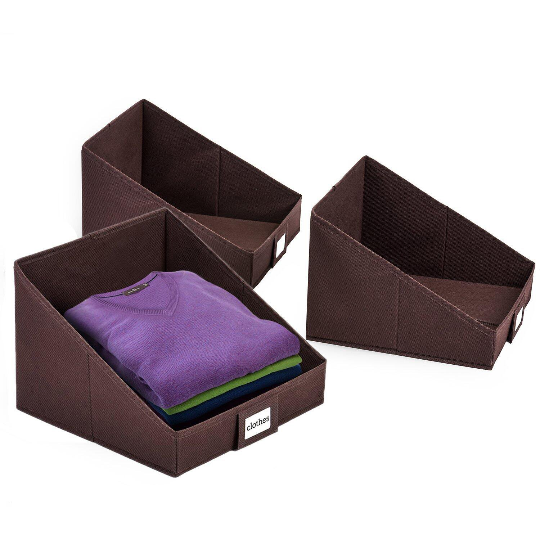 Details about MaidMAX Closet Storage Bins, Foldable Closet Organizer  Trapezoid Storage Cubes