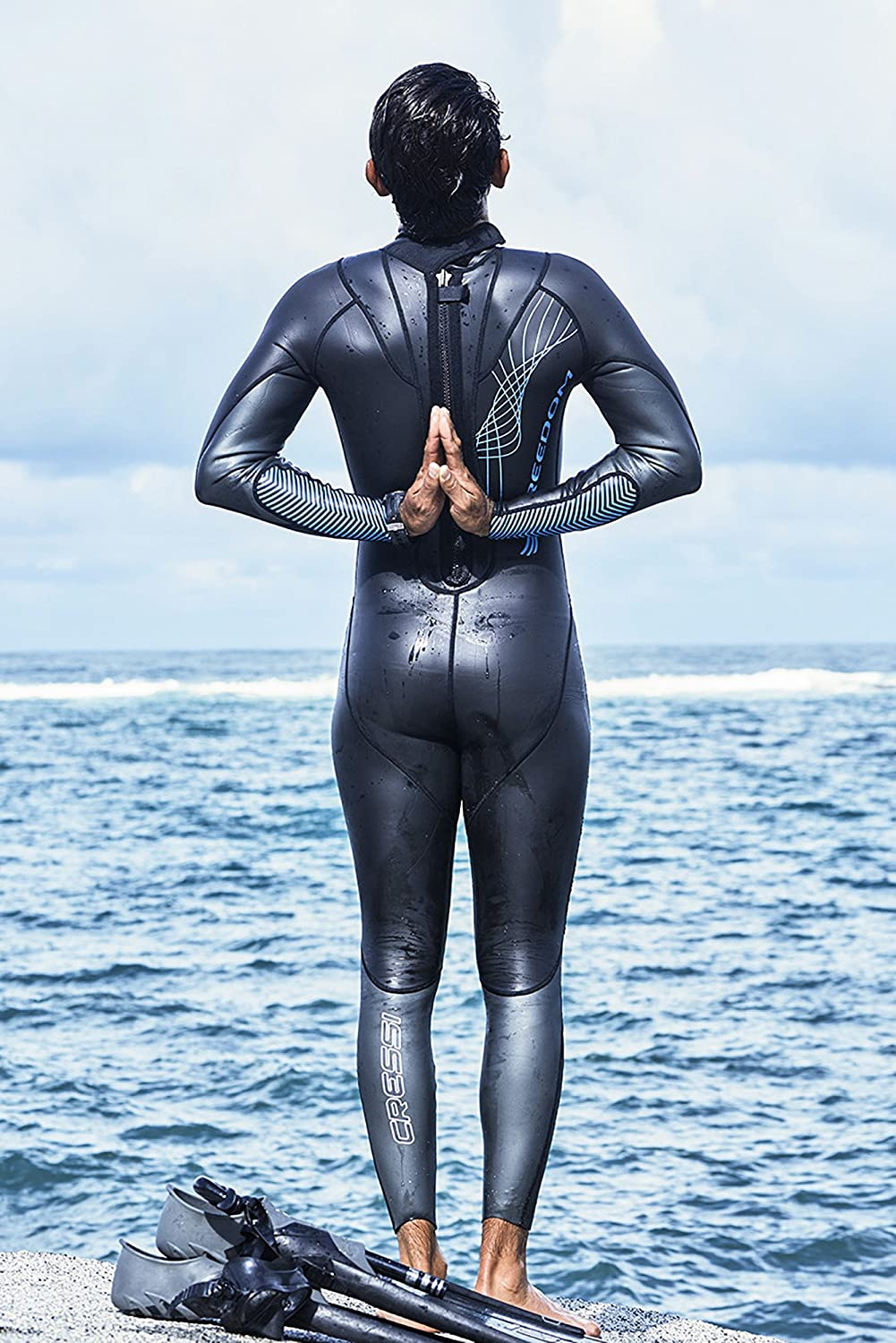 Mens Triathlon Freediving Swimming Wetsuit | Freedom designed by Cressi: quality since 1946