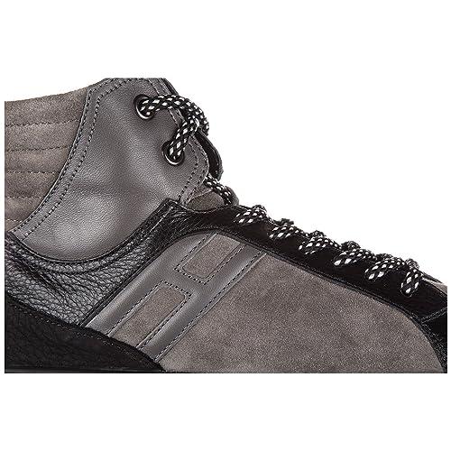 Hogan Rebel Scarpe Sneakers Alte Uomo in camoscio Nuove r141 Basket Grigio   Amazon.it  Scarpe e borse f29010e5571
