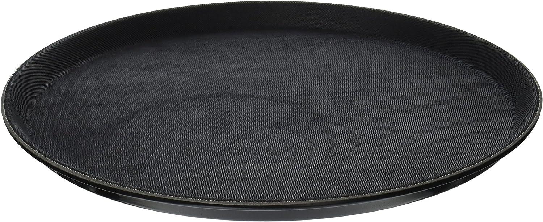 Winco Easy Hold Round Tray, 14-Inch, Black,Medium
