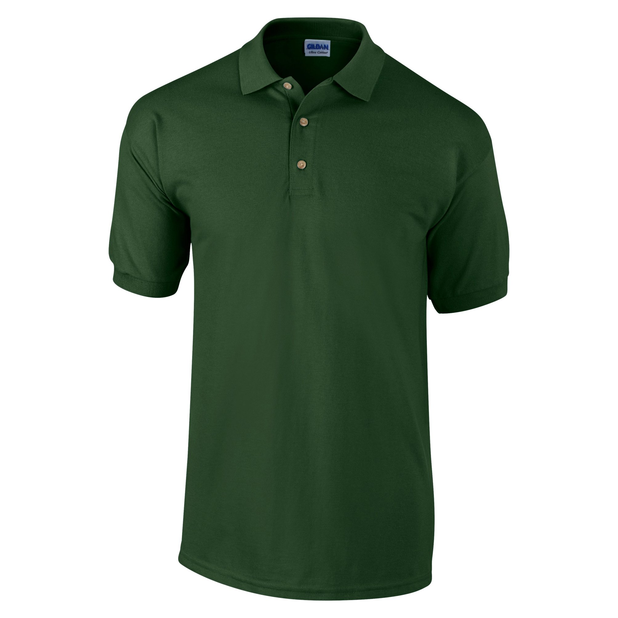 Gildan Mens Ultra Cotton Pique Polo Shirt (S) (Forest Green)