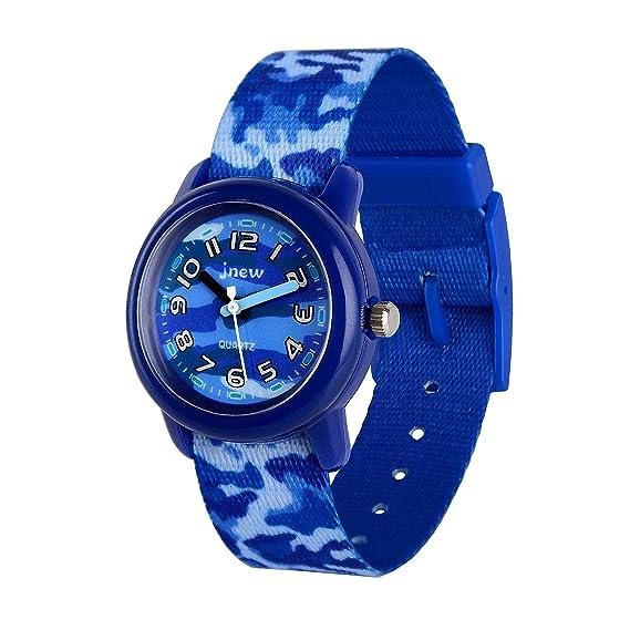 Gaigor Niño Reloj de Pulsera de Cuarzo analógico plástico Ligero G021W005 Azul - Camuflaje: Amazon.es: Relojes