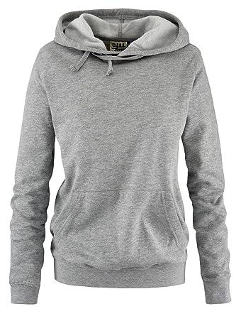 EMZEE - Basic Kapuzenpullover - Damen Hoodie - Gr. S - XL Schwarz, Grau,  Weiss