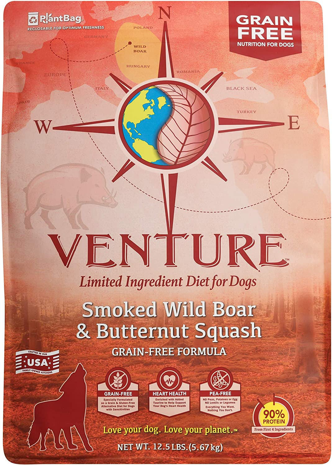 Venture Smoked Wild Boar & Butternut Squash Limited Ingredient Dry Dog Food