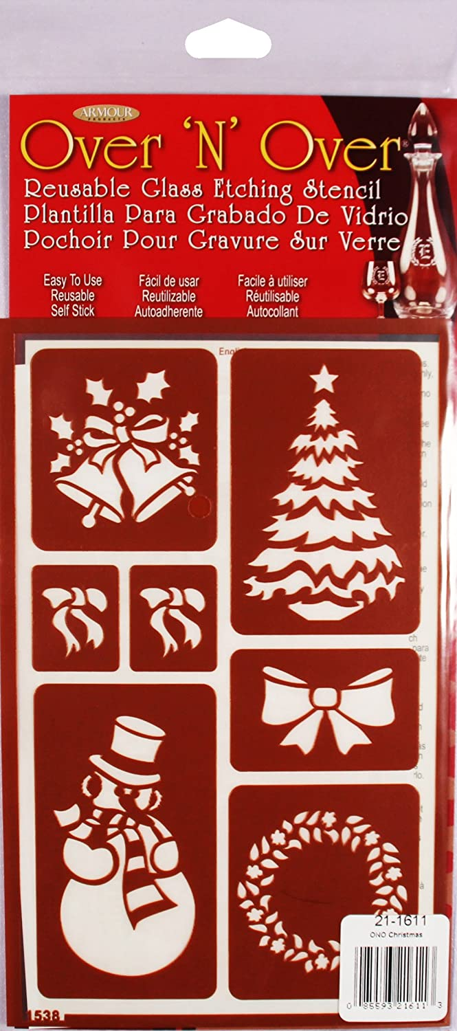Armour Over 'N' Over Reusable Stencils 5X8-Christmas Armour Products GE21-1611