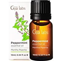 Gya Labs Peppermint Essential Oil for Hair Growth, Muscle Pain Relief, Headache Relief - Topical for Sinus Relief and Congestion - 100 Pure Therapeutic Grade Peppermint Oil for Aromatherapy-10ml
