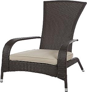 Patio Sense 61469 Coconino Wicker Chair, Mocha