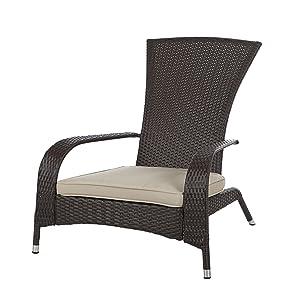 Patio Sense Coconino Wicker Adirondack Chair