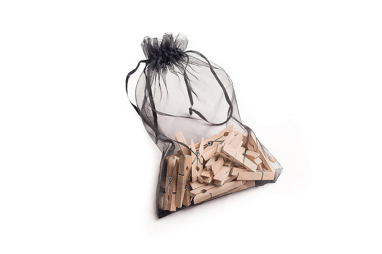 WEE Holzklammern 4,5cm x 50 Stück in Geschenkbeutel, Bastelmaterial ...