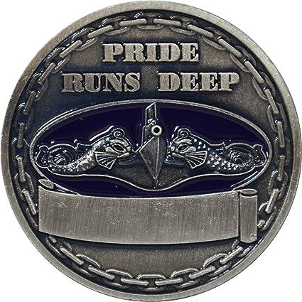 Navy Submarine Service Silver Challenge Coin