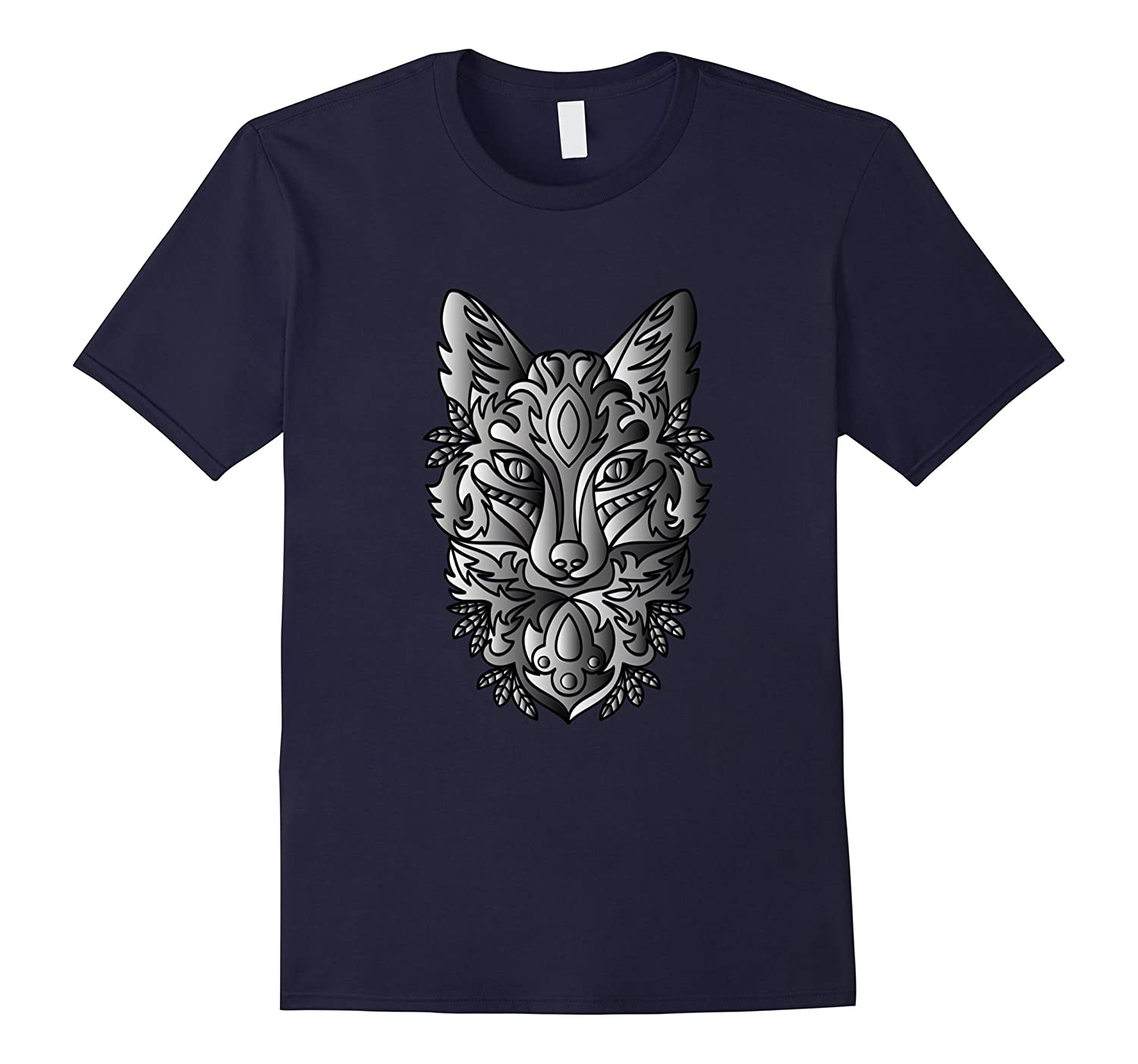 Celtic Style Silver Fox Hunting or Fishing T-shirt
