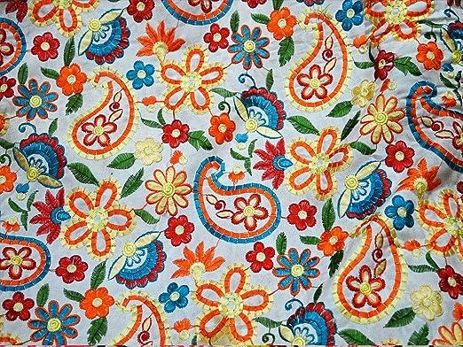 Tela de algodón bordada para manualidades, disfraces de boda, tela ...