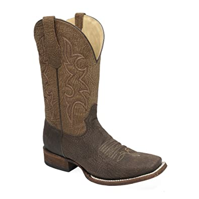 Circle G By Corral Men's Square Toe Chocolate Tan Cowboy Western Boots L5098