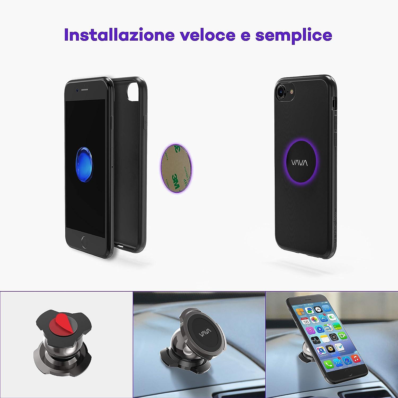 altamente COMPATIBLES, Re Placas Metal Smartphone Vava placas met/álicas adhesivas Metal Plates para soporte magn/ético COCHE Air Vent//magn/ético CD Ranura para Smartphone 2/placas met/álicas redondas con un adhesivo 3/M