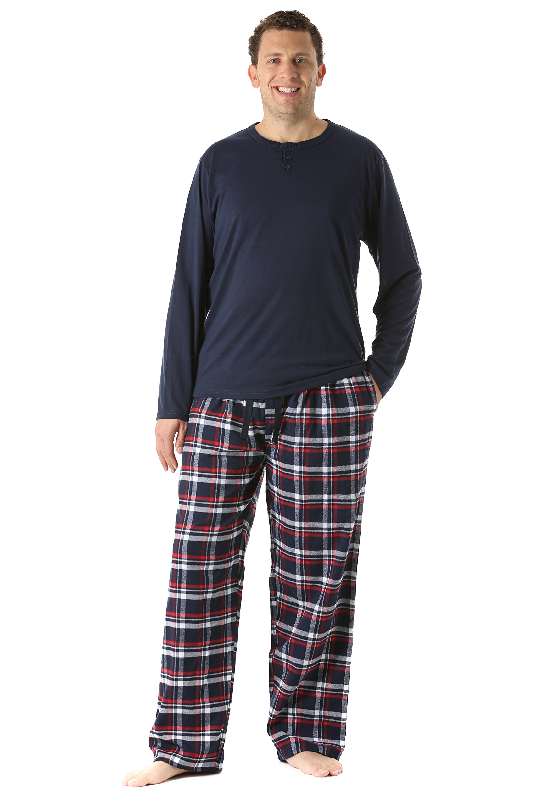 #FollowMe 44911-6-M Pajama Pants Set for Men/Sleepwear/PJs,Plaid 6,Medium