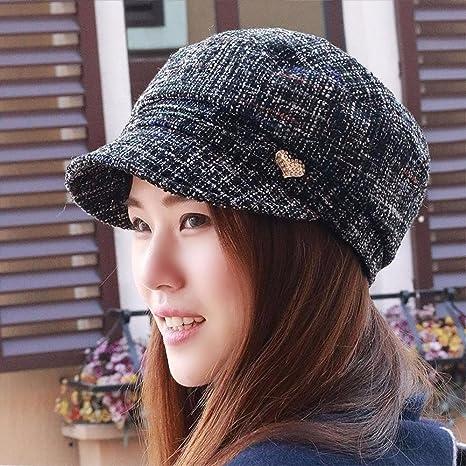 421eb865cedbd Amazon.com  XINQING-MZ Hat the girl textured berets