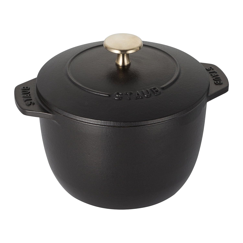 Staub 11721225 Cast Iron Petite French Oven, 0.75-quart, Matte Black