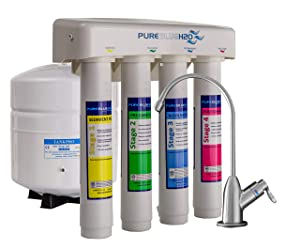 Pure Blue H2O Four Stage Reverse Osmosis Water Filtration System