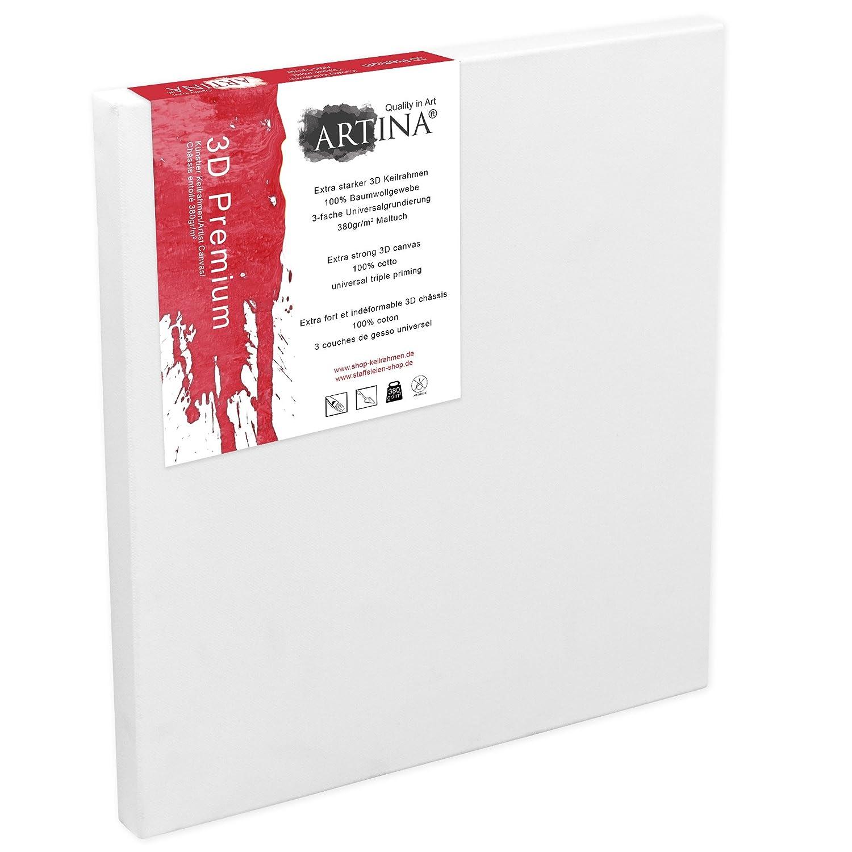 Artina 5er Set - 60x80 cm Leinwand aus aus aus 100% Baumwolle auf stabilem Keilrahmen in 3D Premium Qualität - 380 g m² B0130QI3PY | Elegante und robuste Verpackung  8787a1