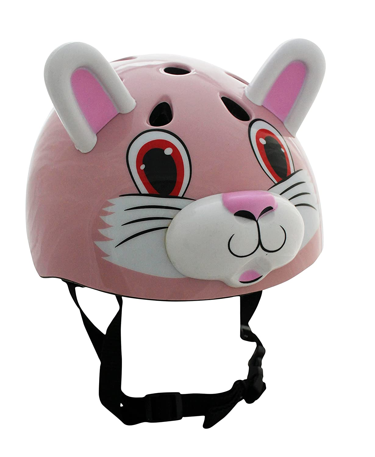 Pink Cat / Rabbit Childrens Safety Cycling Skating Scooter Bike Helmet (Suitable ages 3 - 11) LA Sports