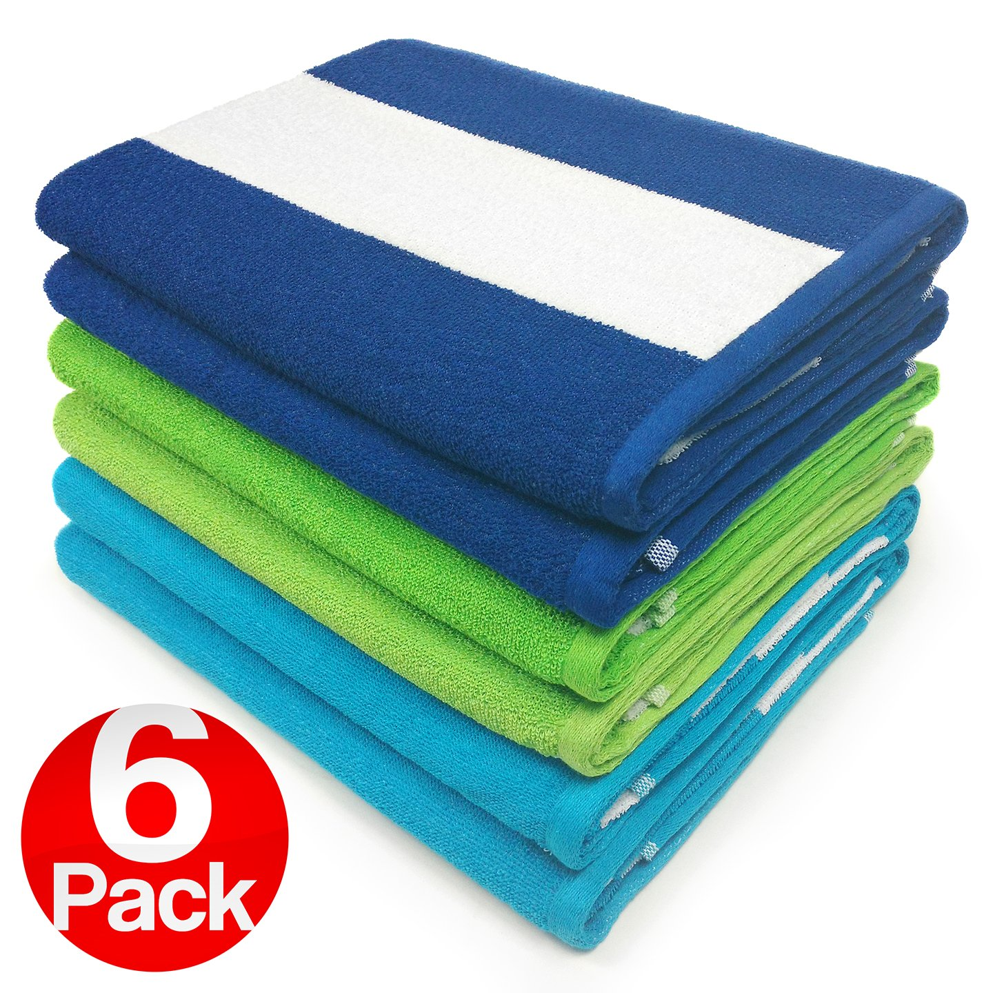 Ben Kaufman Sales KAUFMAN - Cabana Terry Loop Towel 6-Pack BGT - 30in x 60in by Ben Kaufman Sales