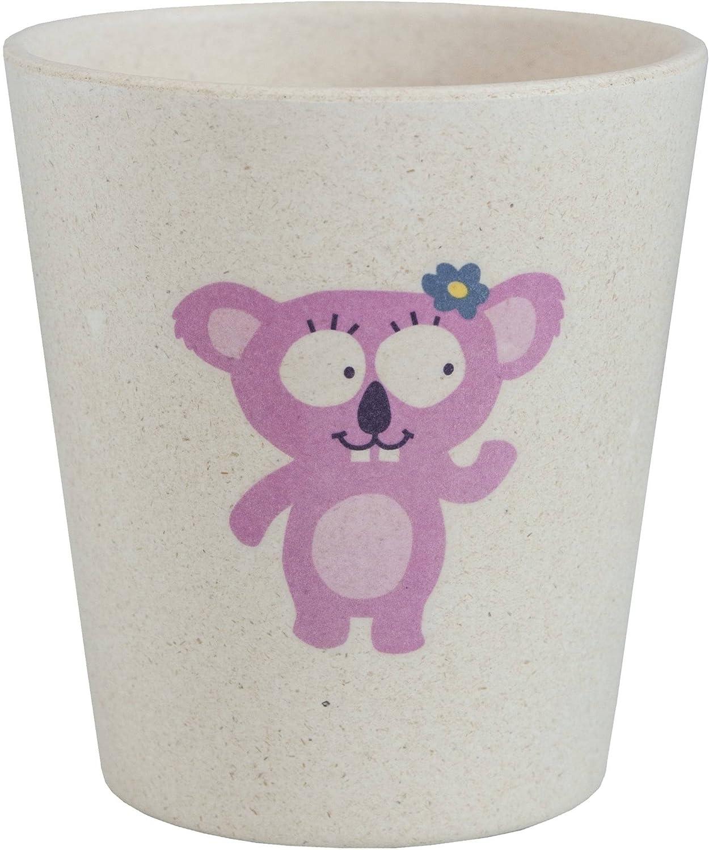 Realizzato con bamb/ù e bucce di riso Per bambini Igienico e biodegradabile JACK N JILL Con disegno di Coniglietto Bicchiere risciacquo
