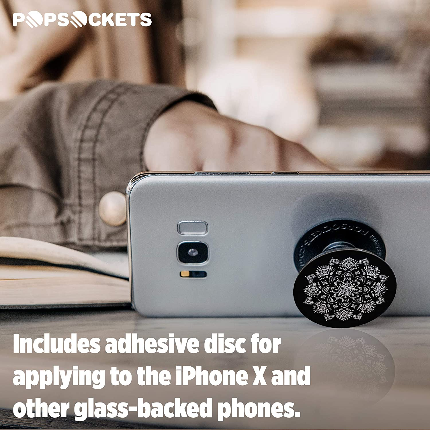 PopSockets Peace Mandala Sky Collapsible Grip /& Stand for Phones and Tablets