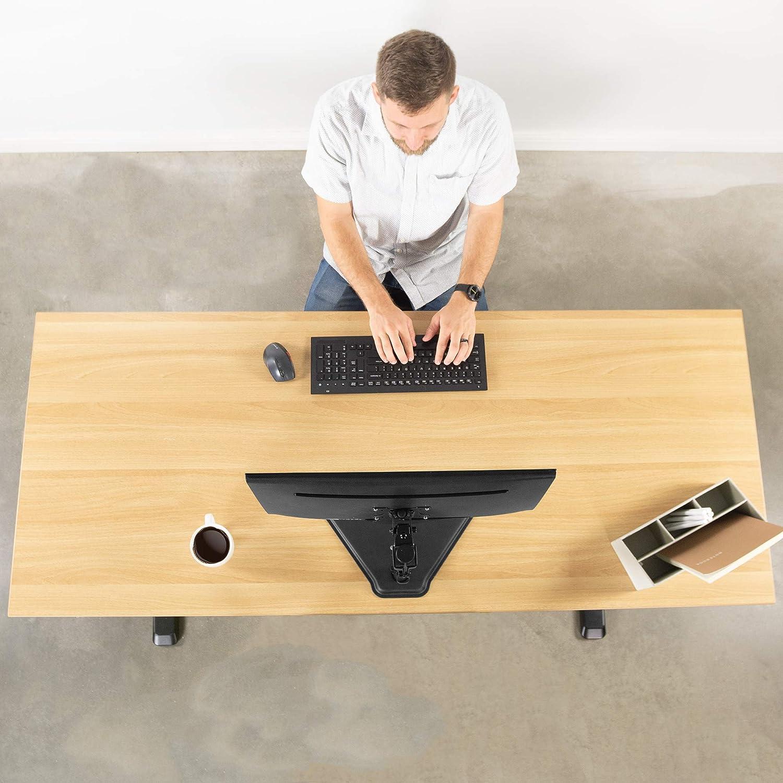 VIVO Support de bureau pour écran LCD sur pied inclinable réglable Peut contenir 1 écran jusqu'à 68,6 cm STAND-V001H Noir