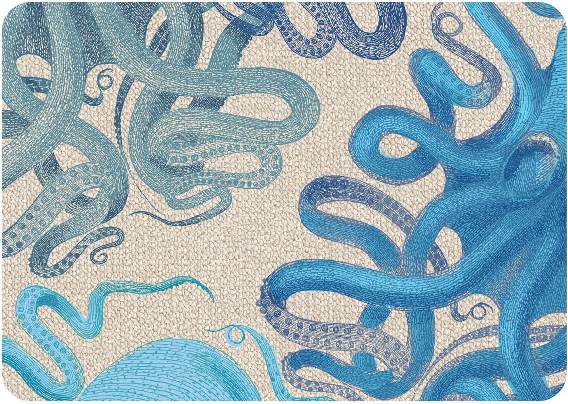 Premium Comfort Octopus Hooked Mat, 22 by 31-Inch, Multicolor