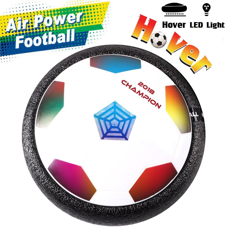Addmos [Letzte Version] Air Power Fußball Hover Power Ball Indoor Fußball mit LED Beleuchtung, Perfekt zum Spielen in Innenräumen ohne Möbel oder Wände zu beschädigen NO.696-27