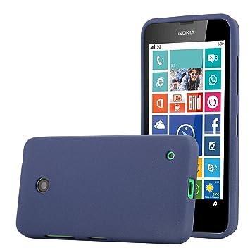 Cadorabo Funda para Nokia Lumia 630 en Frost Azul Oscuro ...