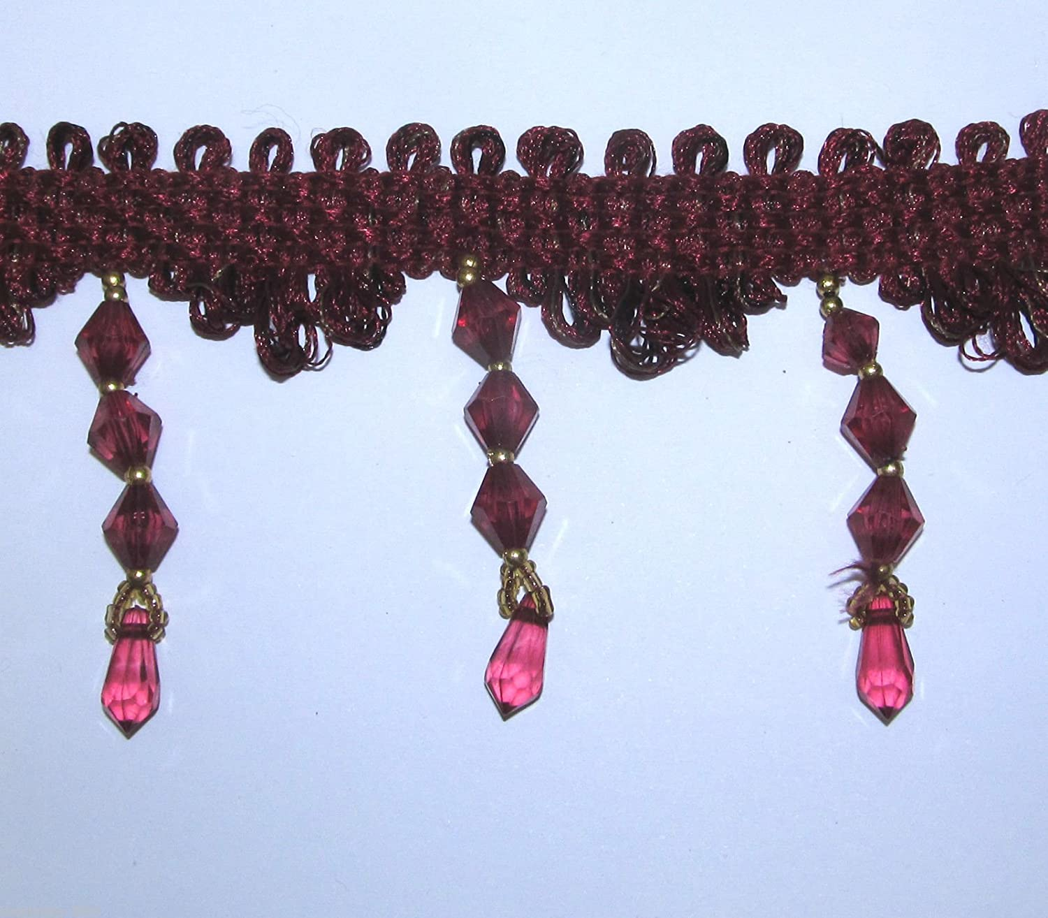 Designer Shaped Beaded Trim /& Braid For Curtain Blind Bead Fringe Trimming