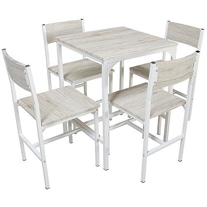YELLOO Mod. PORTOFINO Set Mesa Bar con 4 sillas Beige Cocina Mesa ...
