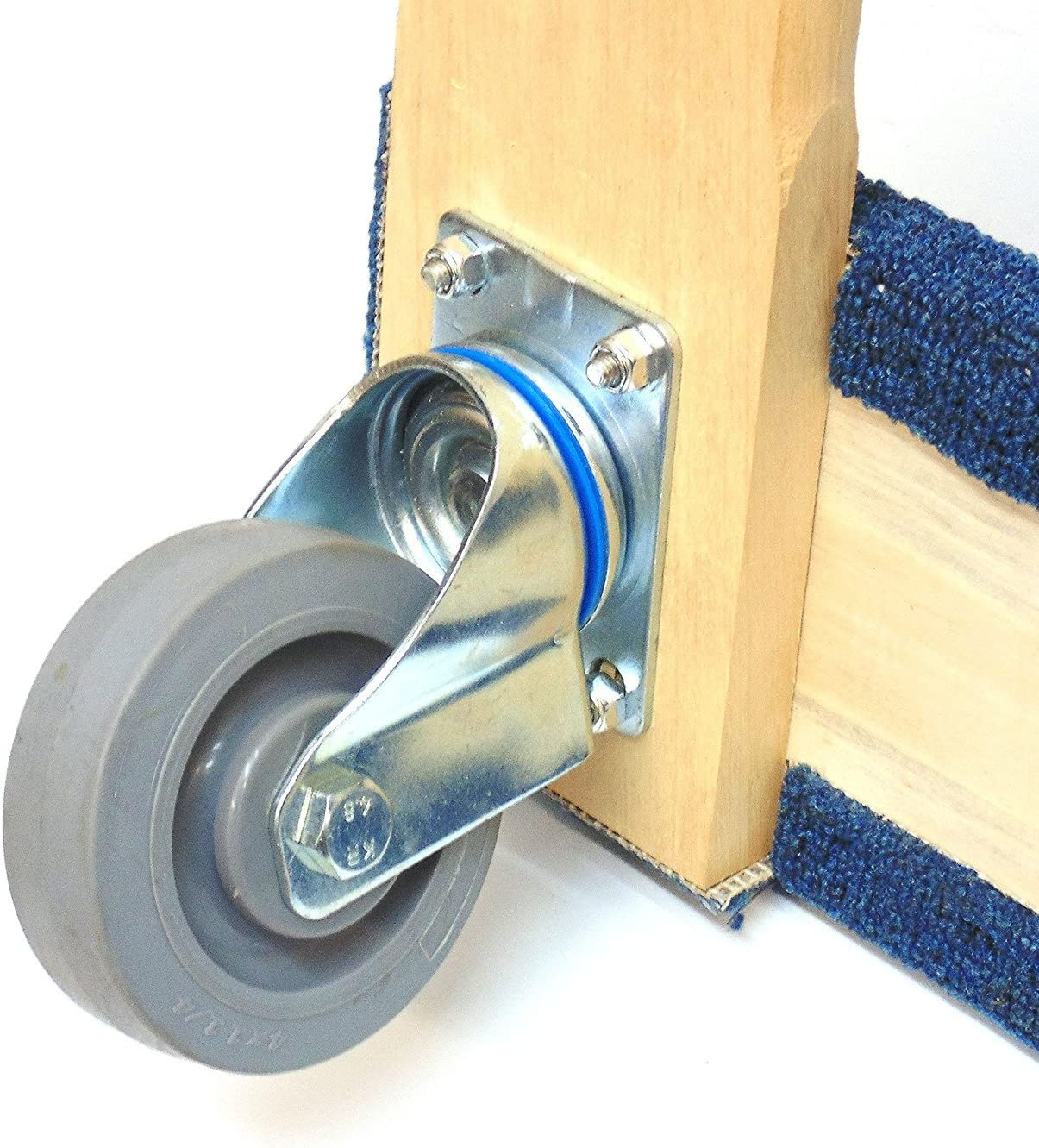 Troy Safety Movers Dolly with Soft Non-Marking TPR Wheels 3-Inch Wheels, Blue