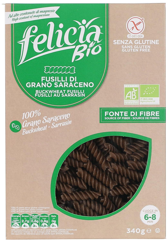Amazon.com: Felicia Bio Fusilli Buckwheat Gluten 340g: Health & Personal Care